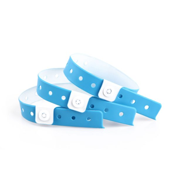 Blue Vinyl Wristbands