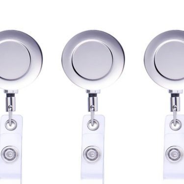 Retractable White Keyring